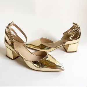Franco Sarto | Gold Patent Leather Caleigh Pumps
